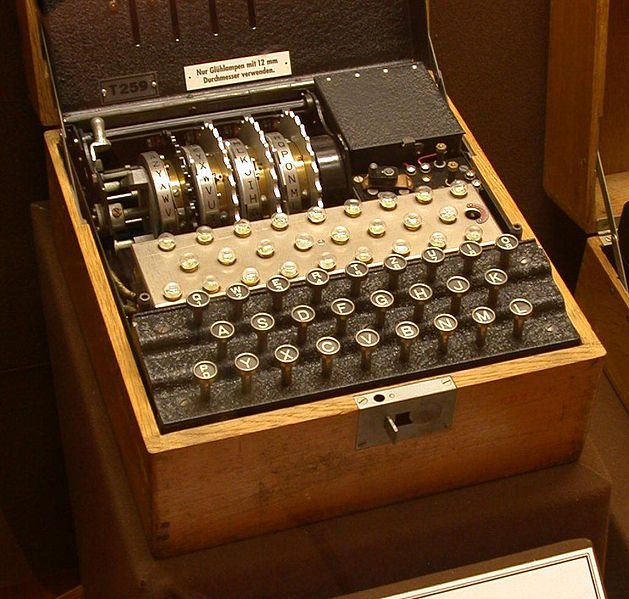 The evolution of the first computers owe a lot to this machine, Enigma, the German cryptography tool used by the military to pass along coded messages. Breaking Enigma gave the Allies insight into German strategies and troop and naval positions.  Source: Wikimedia Commons