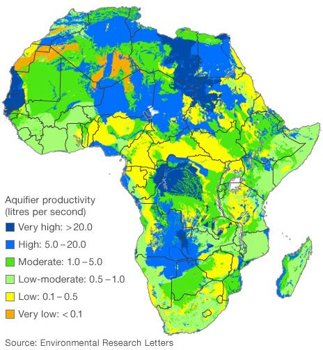 Hidden water in Africa