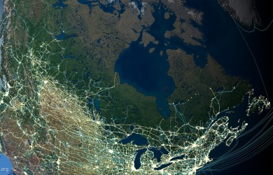 Anthropocene satellite image of North America