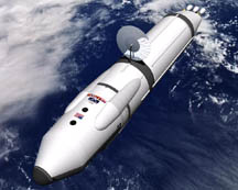 This depicted spacecraft is powered by a positron reactor, one of the technologies NASA is exploring as an alternative to chemical rockets for missions to Mars and beyond.                        Source: NASA