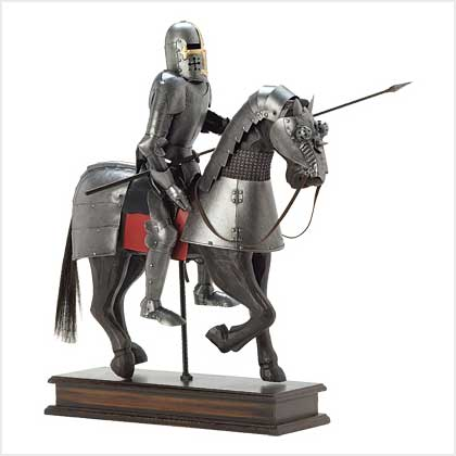 Armored knight on horseback were the tanks of their day