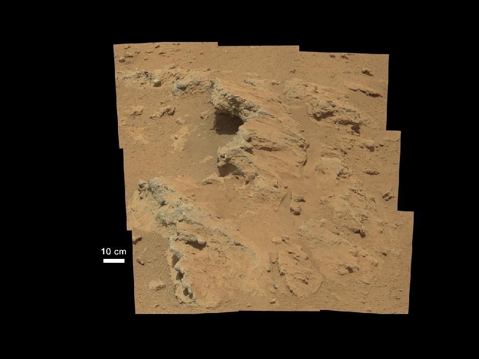 remnants of an ancient stream bed on Mars