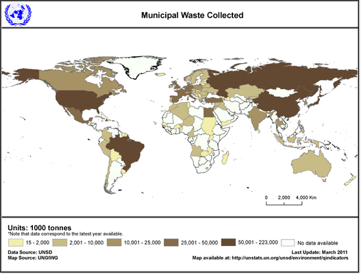 UN statistics on municipal waste