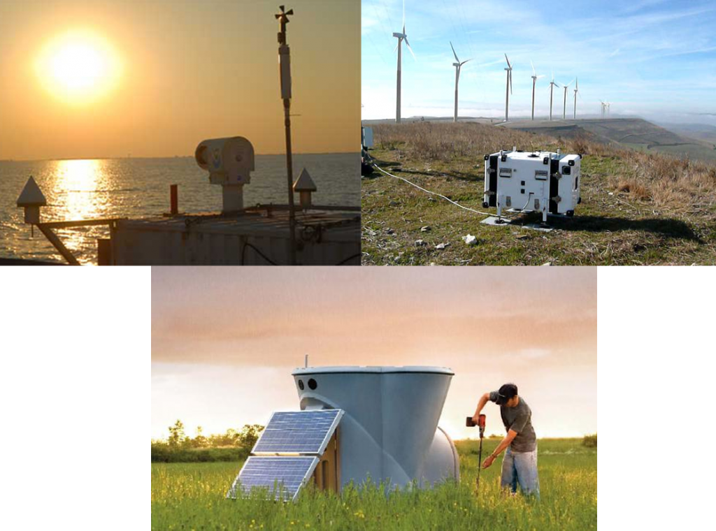 Tools used to measure the impact of wind turbines on the atmosphere