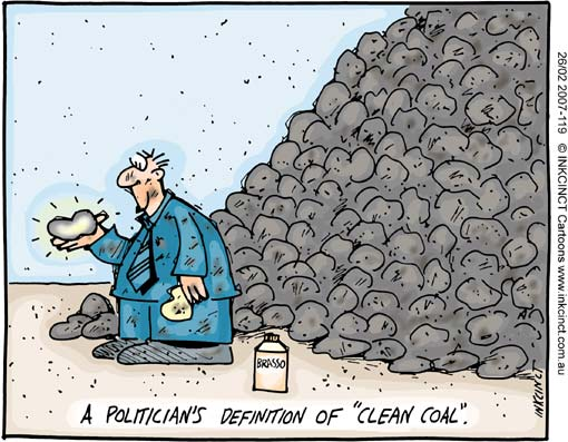 politician's definition of clean coal