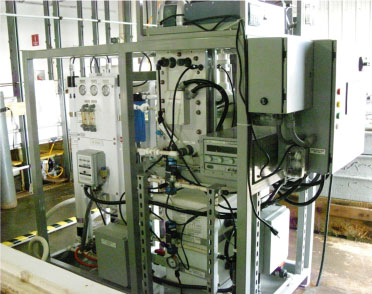 The electrochemical codification carbon capture cell is seen in this picture. The technology is designed to convert seawater into jet fuel.   Source: U.S. Naval Research Laboratory
