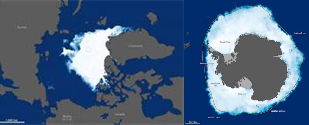 Different geography produces different sea ice results even as the atmosphere continues to warm on this planet.