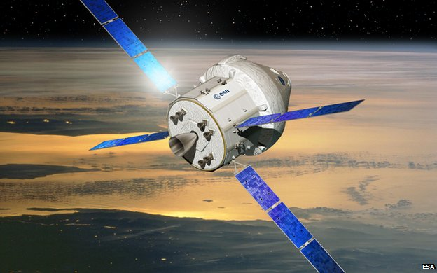 Orion with ESA service module