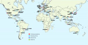 C40 Cities global map