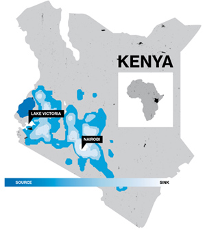 Kenya malaria tracking using cellphones