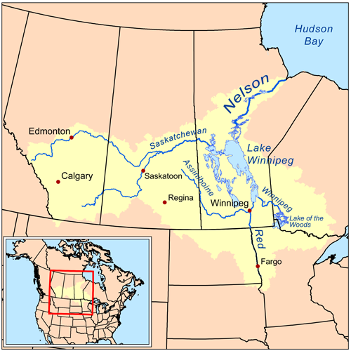 map of north dakota and canada pdf