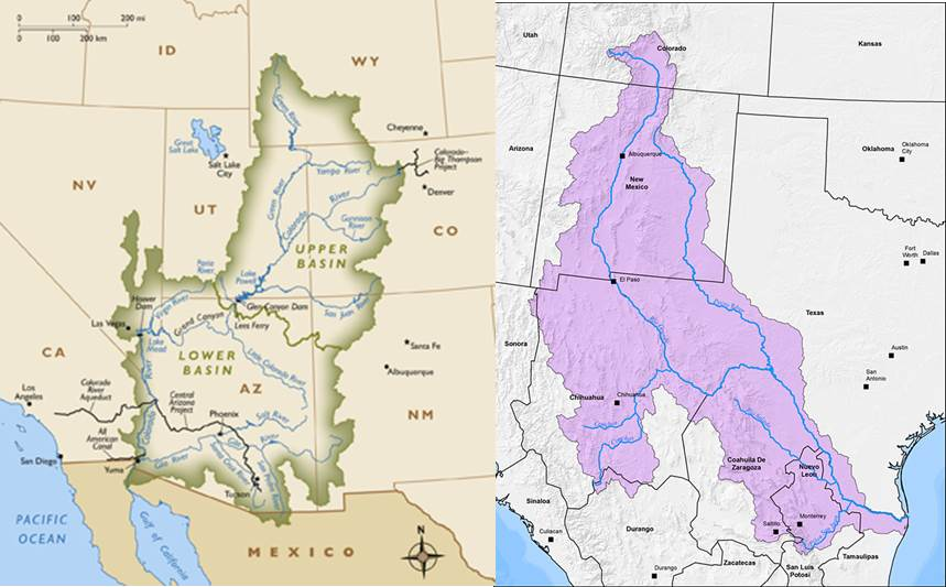 Part Of Climate Change And The Rivers Of North America - Major rivers in usa map