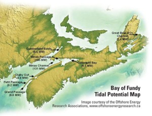 Bay of Fundy tidal potential