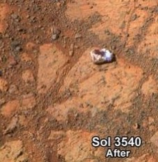 Martian Opportunity mystery rock