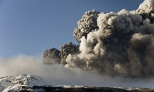 Ash plume from the Eyjafjallajokull volcanic eruption in 2010