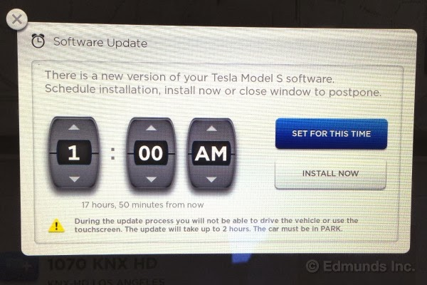 Tesla Model S firmware update