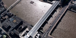 aerial image of Blackfriars Bridge London