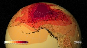 Global warming projections northern hemisphere