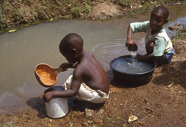 children-dirty-water