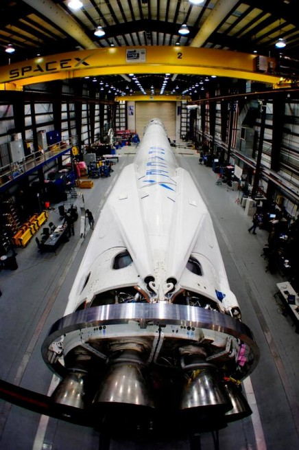 SpaceX Falcon-9 recoverable rocket