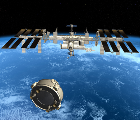 CST-100 approaches ISS
