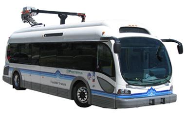 Charging a Proterra EcoRide Bus