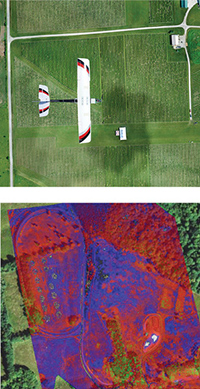 Drone infrared image of farm