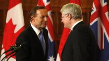 Australia and Canada's Prime Ministers