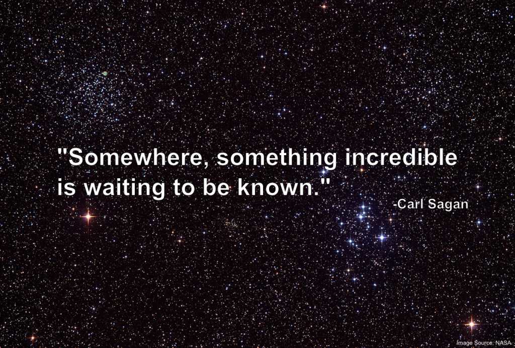 Carl Sagan quote about life on other worlds