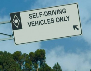 Self-driving vehicles sign