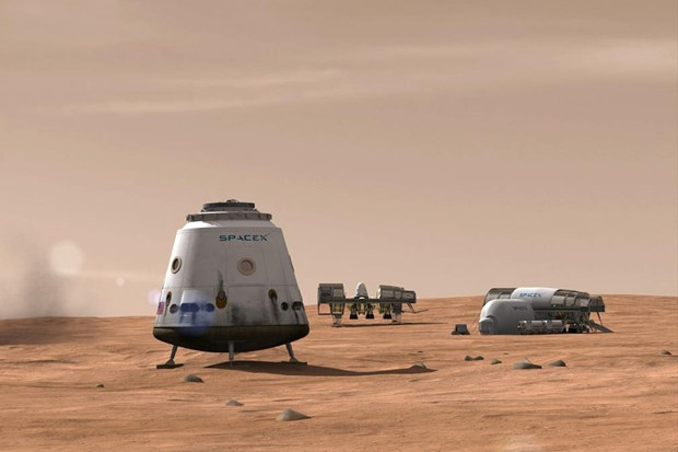 SpaceX-on-Mars