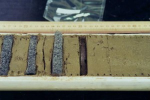 core samples from ocean floor