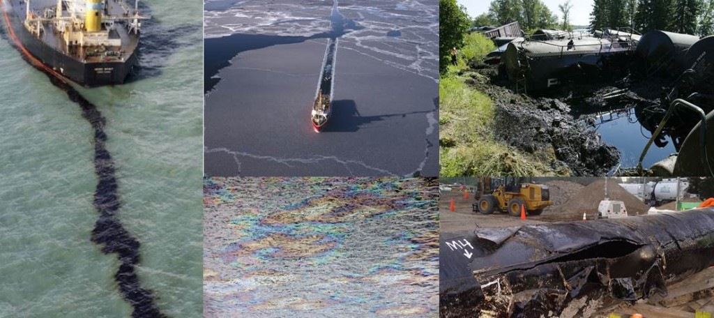 Oil spills everywhere