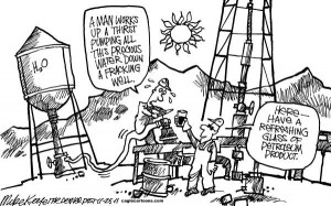 water versus oil cartoon