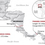 Proposed route of the Grand Canal of Nicaragua (The Washington Post).