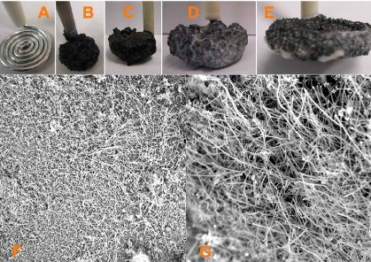 Carbon nano-fibers from air