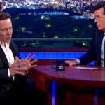 Colbert & Musk conversation