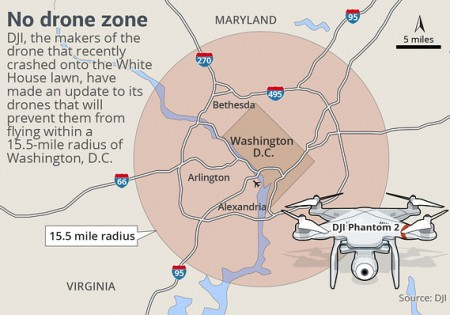Manufacturer Creates Geofencing App To Restrict Where Drones Can Go - Us no fly zones map