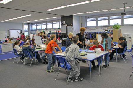 Students in Wetzel Elementary School take first steps in 21st Century Teaching and Learning. Photo credit: Bernd Mai