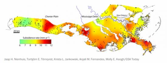 Coastal Louisiana Chesapeake Bay And South Florida May All Drown - Louisiana sea level map