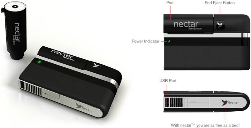 Nectar Mobile Power - a compact fuel cell for portable electronics
